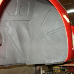 inner fender undercoating , finished